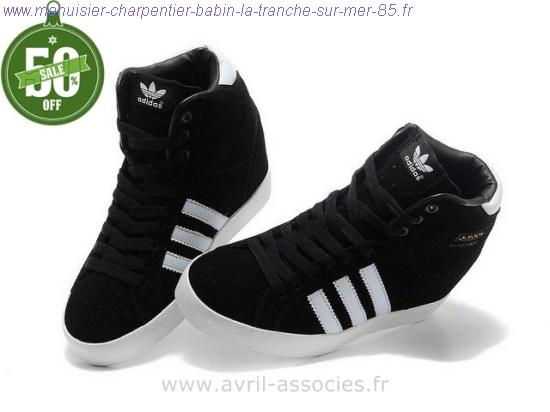 chaussure adidas femme haute noir