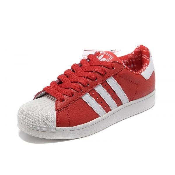 Nouveaux produits b1c03 ea99f adidas superstar 2 rouge pas cher