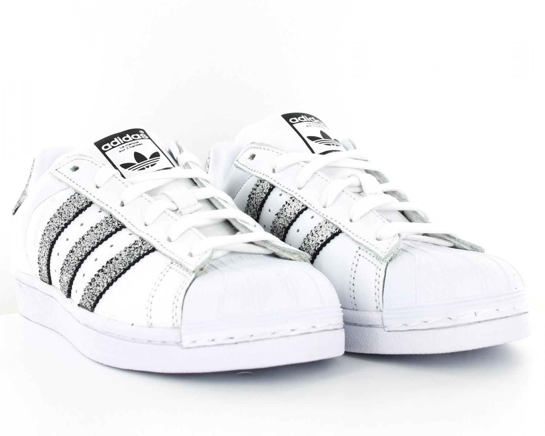 adidas superstar j w chaussures blanc argent