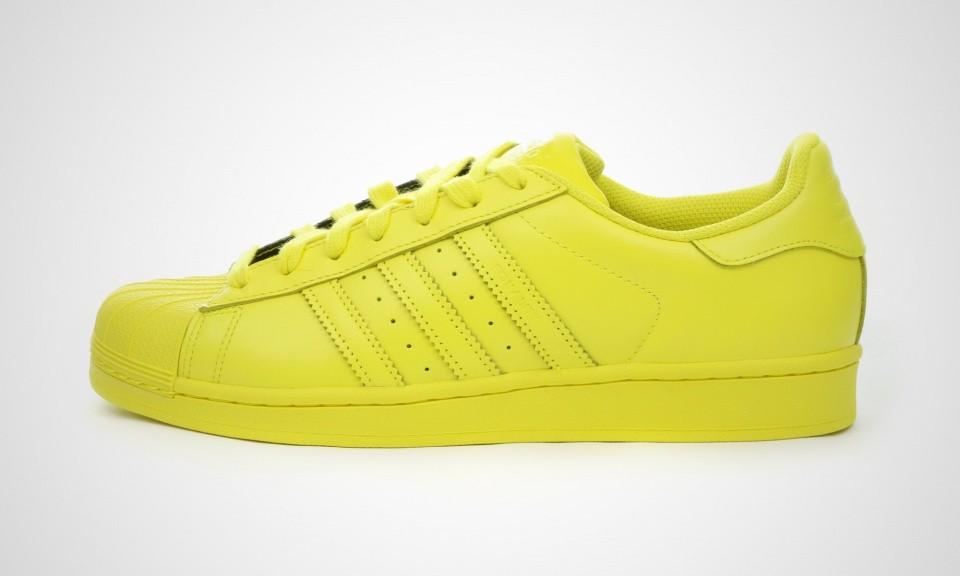 adidas superstar jaune homme