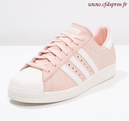 adidas superstar blanche et rose femme