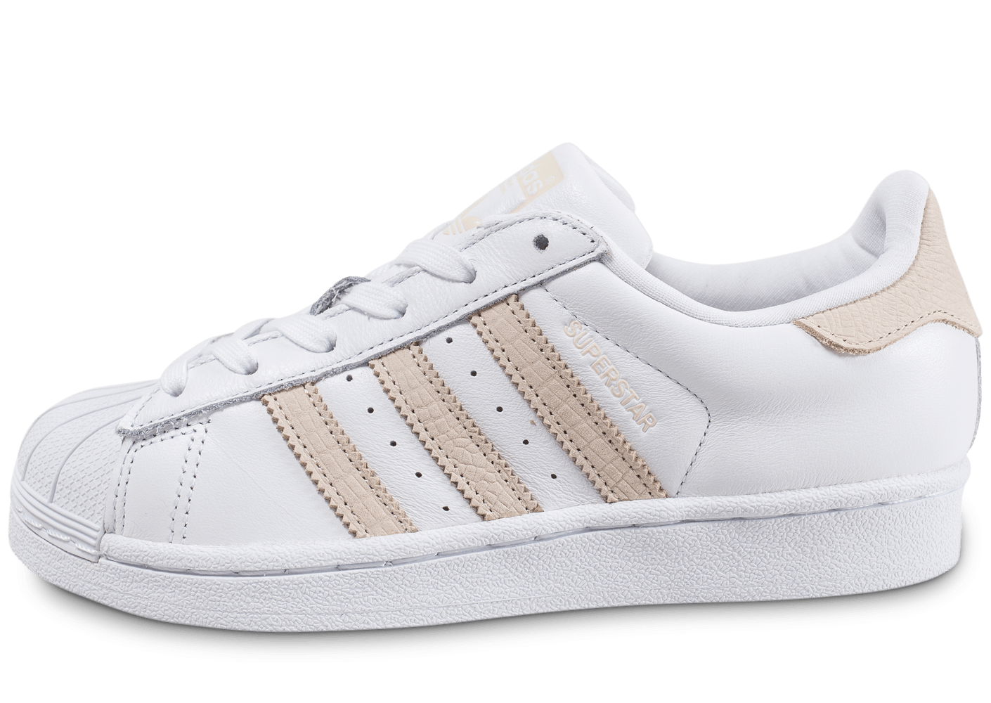 Baskets adidas Superstar W Suede, Chaussures Femme rose Rose