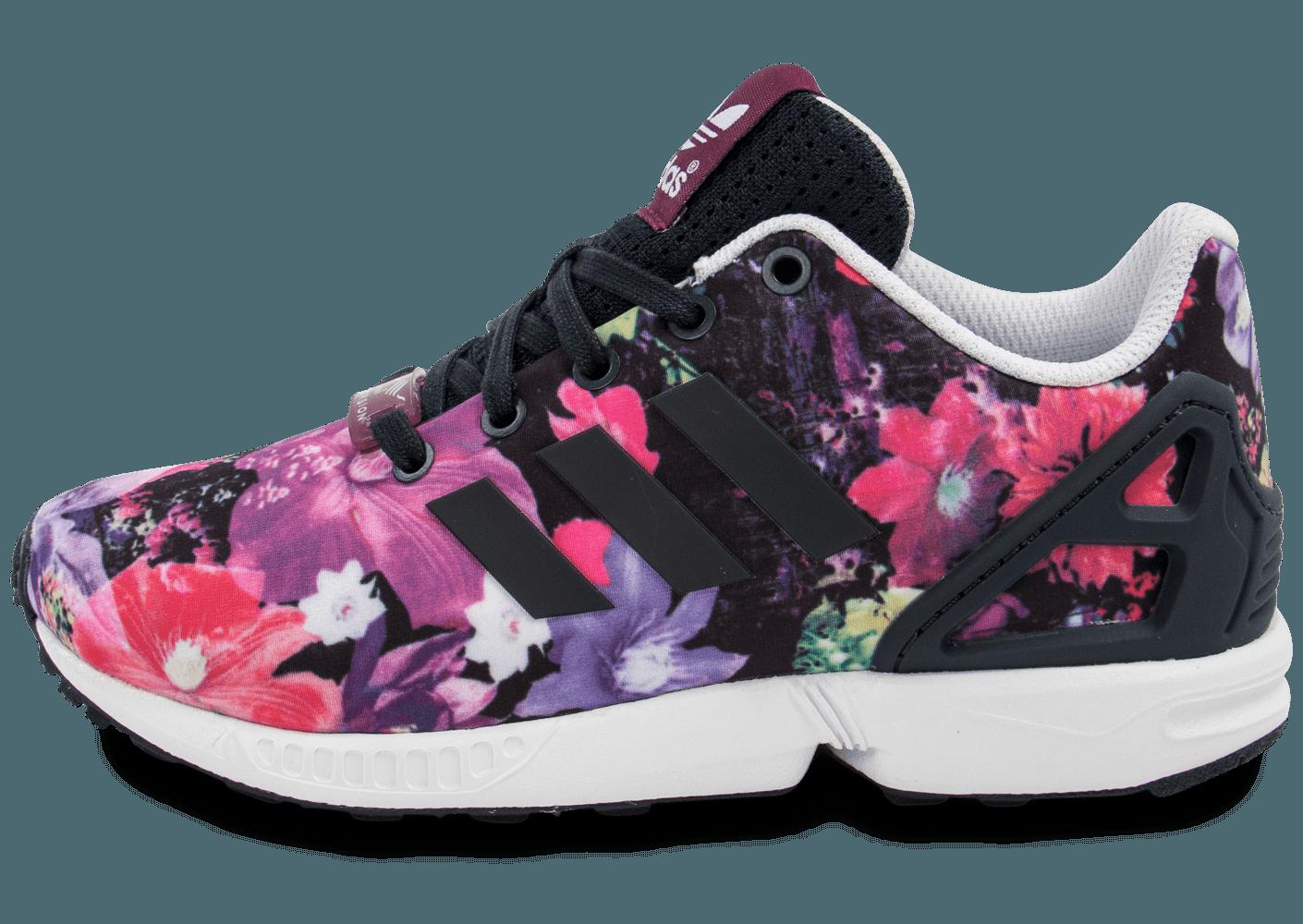 site réputé acb6c b22ef adidas zx flux femme floral