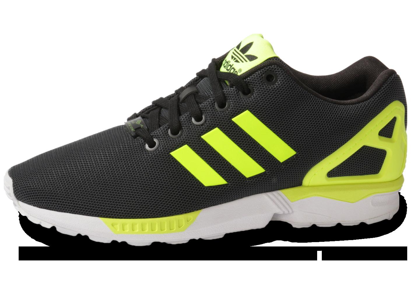 adidas zx flux noir et jaune
