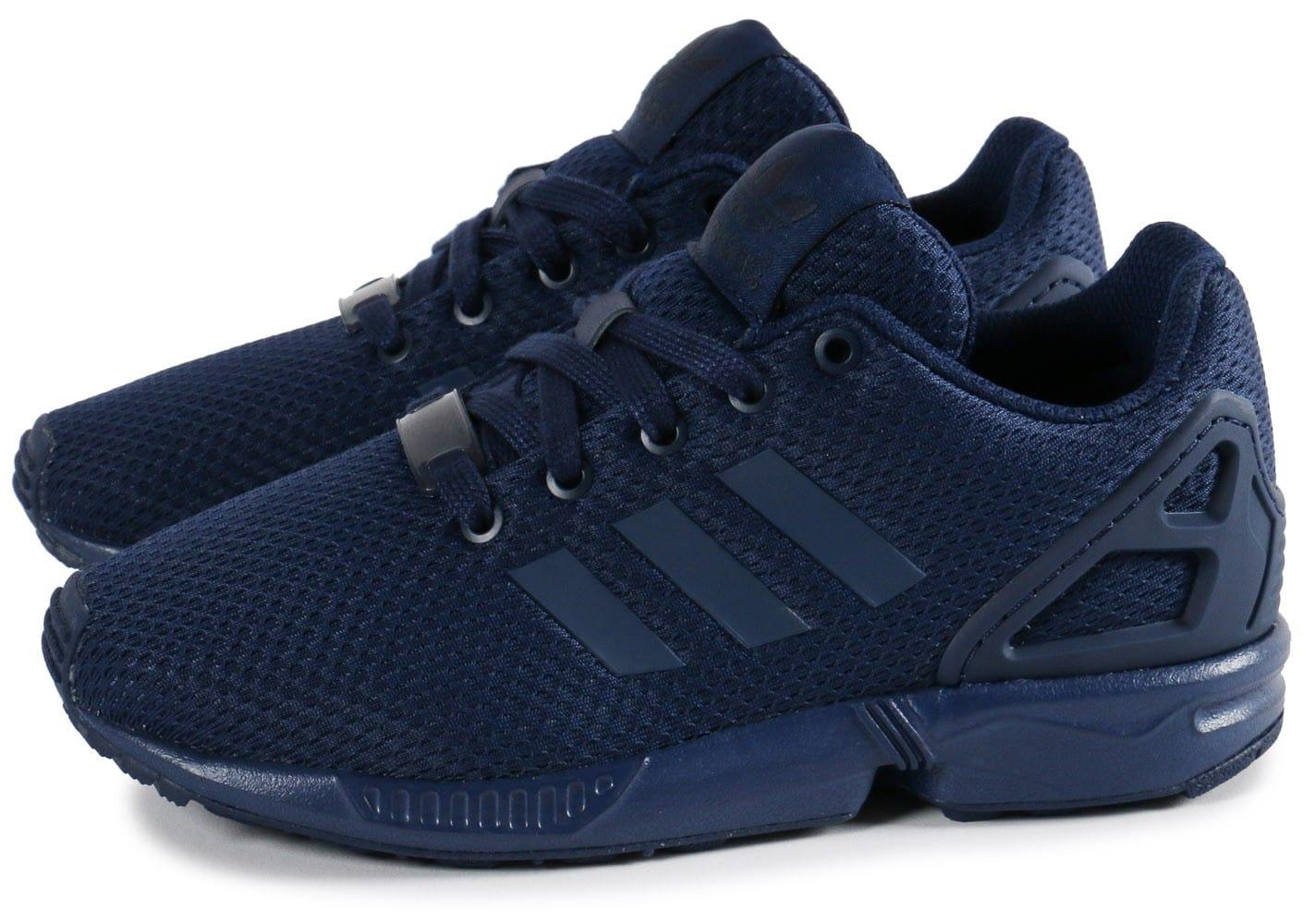 économiser 3d85e 8ca30 basket adidas zx flux bleu