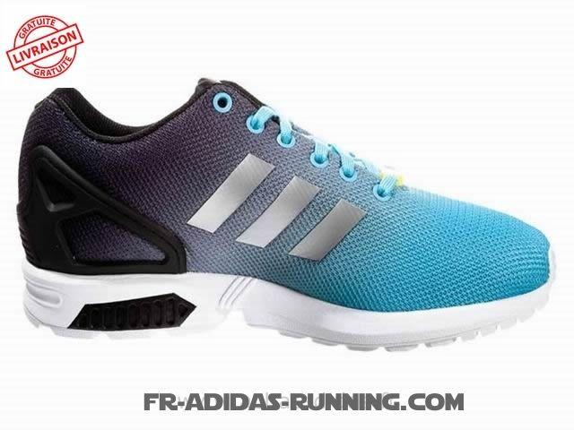 économiser de8e8 1c89c basket adidas zx flux bleu