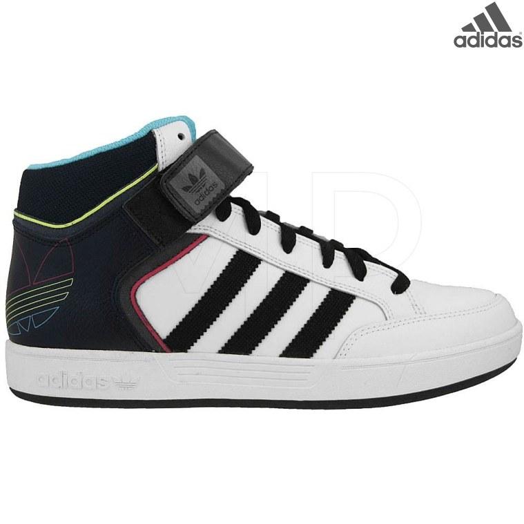 adidas Varial Mid J, Chaussures de Skate Garçon, Blanc