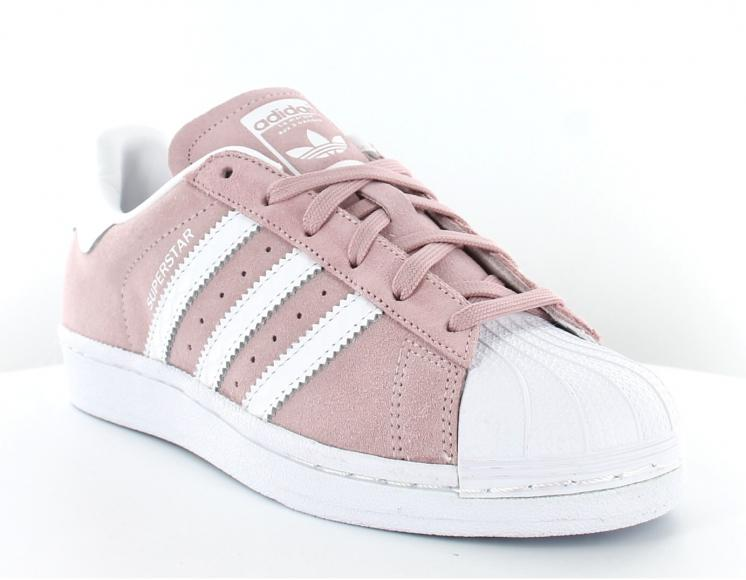 adidas superstar femme rose blanche